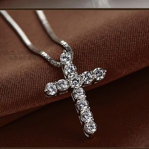 A New Sterling Silver Cross Pendant Necklace
